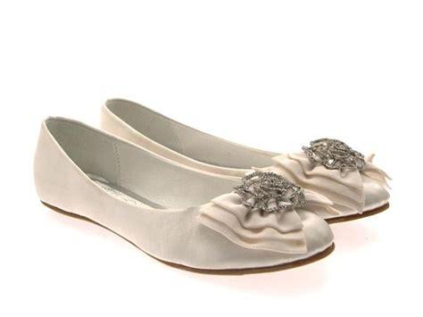 womens low heel flat satin ballet pumps bow bridal prom