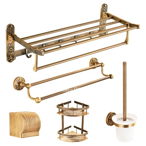 vintage bathroom hardware vintage 5 piece antique brass bathroom hardware sets