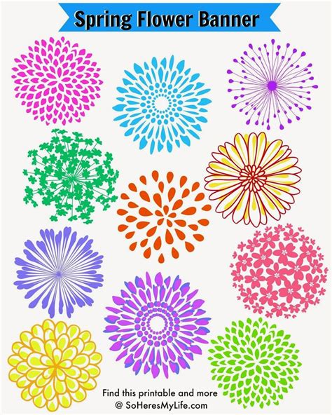 printable spring flowers pictures spring flowers to cut out this banner is easy to make
