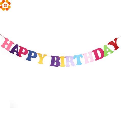 Balloonable Bunting Flag Happy Birthday aliexpress buy 1set 2 5m diy happy birthday decoration flag garland flags floral