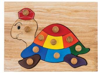 Wooden Knob Puzzle Puzzle Tombol jumbo wooden knob puzzles