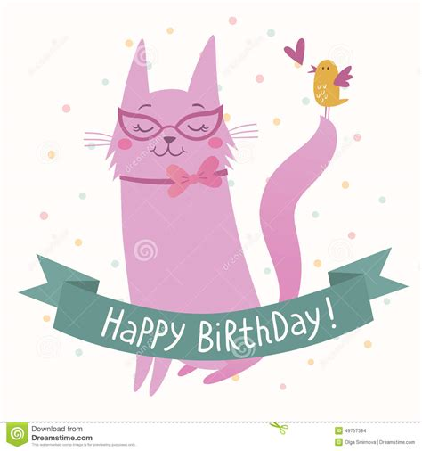 Happy Birthday Cards On Happy Birthday Card Stock Vector Image Of Celebration