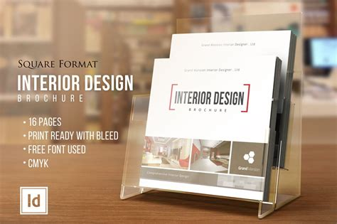 interior design square brochure brochure templates