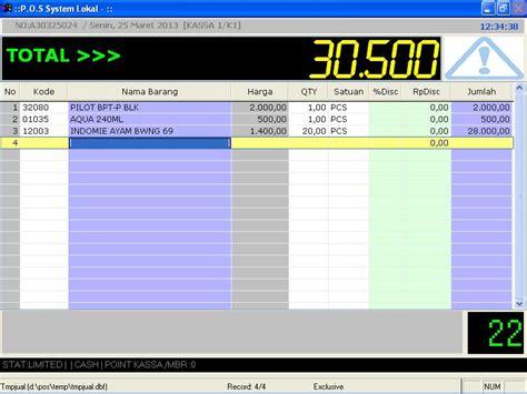 Software Program Aplikasi Kasir Toko Obat Obatan Toko 1d 1 software toko dan kasir