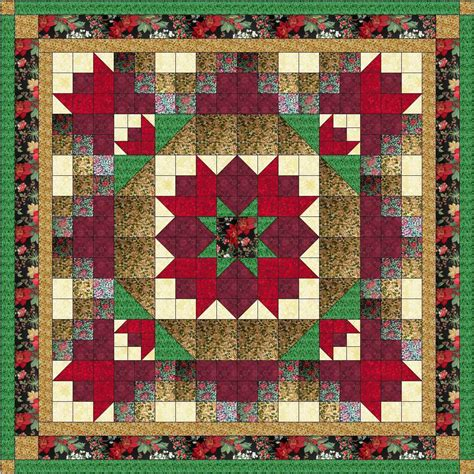 Pre Cut Quilting Kits by Quilt Nine Patch Poinsetta Kit Pre Cut Fabrics