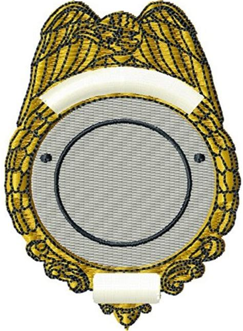 digital giggle embroidery design blank police badge 3 40