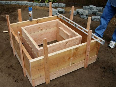 build pit concrete how to make a concrete feature how tos diy