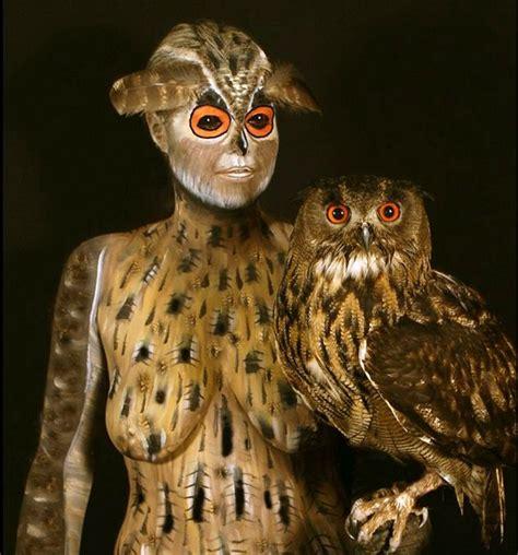 Cctv Burung Hantu foto painting yang merubah manusia menyerupai burung hantu foto 10 dari 20