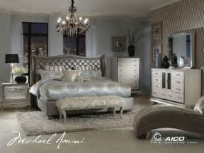 buy swank bedroom set in metallic graphite by