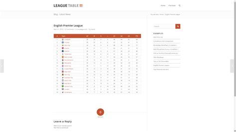 League Search League Table Wpmeta