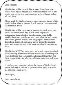 Book Report Letter To Parents Ginger Snaps Themed Binder Parent Letter And Overview Sheet