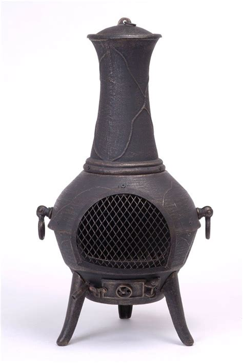 cast iron chiminea patio heater bbq pit indoor heater