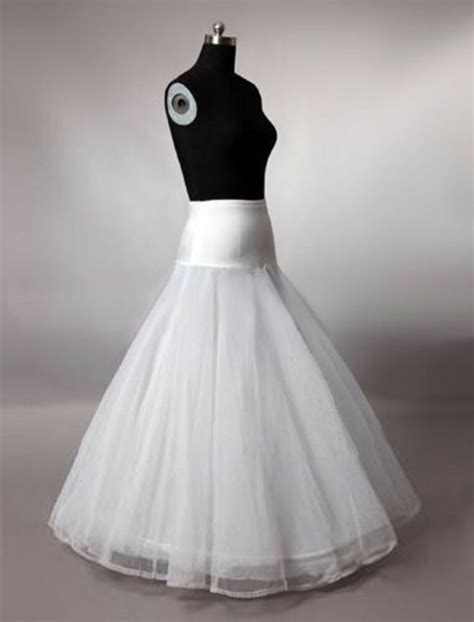 New White Wedding Bridal Dress 1 Hoop A Line petticoat