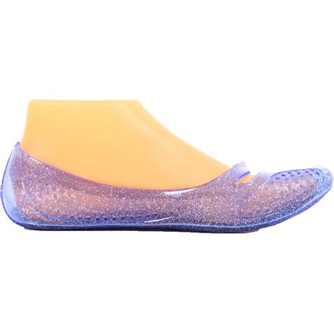 clear flats shoes womens jelly ballet flats shoes glitter plastic rubber