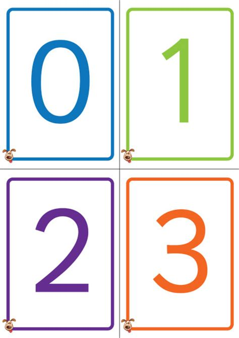 kindergarten printable numbers flashcards 5 best images of printable flashcards 1 10 free