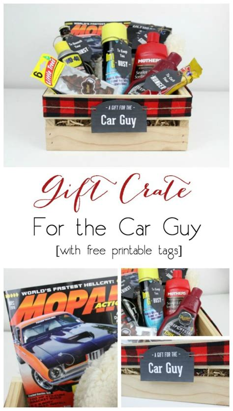 gift crates for guys car sports guys love create