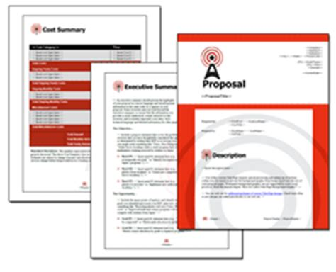 Proposal Pack Telecom 1 Downloadable Proposal Software Templates And Sles Telecom Contract Template
