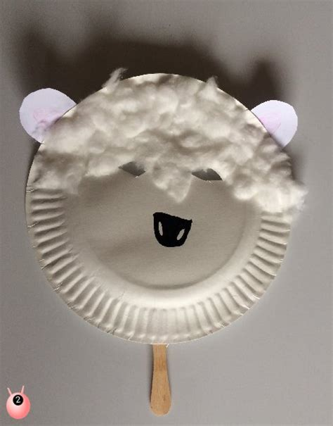 Sheep Paper Plate Craft - sheep mask crafts