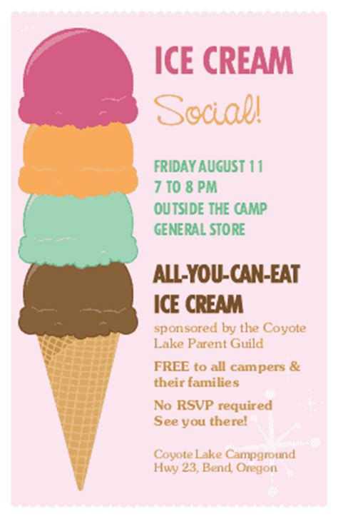 Ice Cream Flyer Summer Flyers Social Flyer Word Template