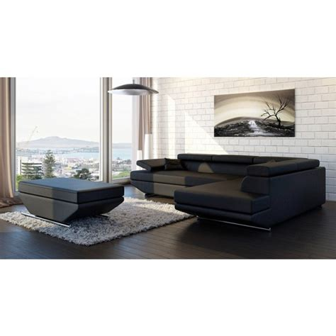 Meubles Tv D Angle 730 by Canap 233 D Angle En Cuir Annecy Canap 233 S