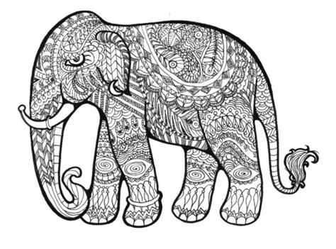 pattern elephant art pattern elephant coloring pages enjoy coloring l0ve