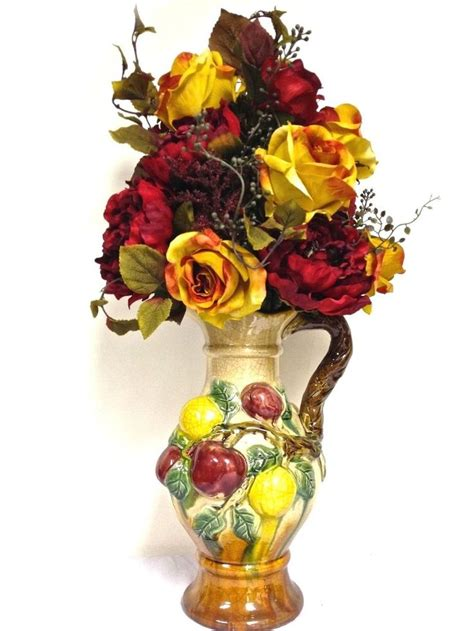 Flower Arrangements With Fruit In Vase by 1000 Images About Silk Floral Arrangements On