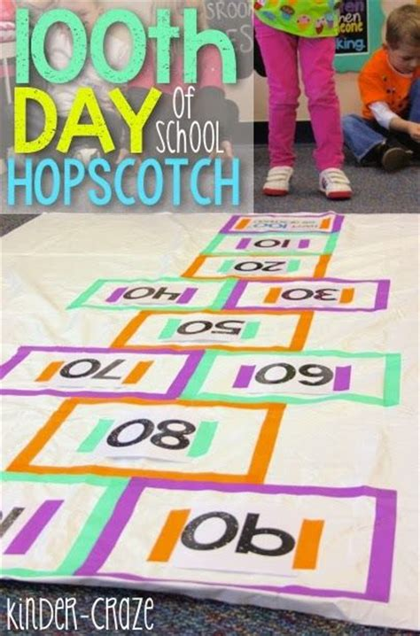 100th Day Counting Activities For - diy hopscotch for the 100th day of school kinderland