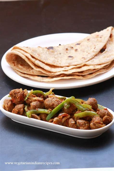 vegetarian recipes with soya chunks soya chunks capsicum masala mealmaker capsicum curry