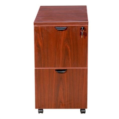 2 Drawer Mobile Wood File Cabinet In Cherry N149 C Cherry Wood Filing Cabinet
