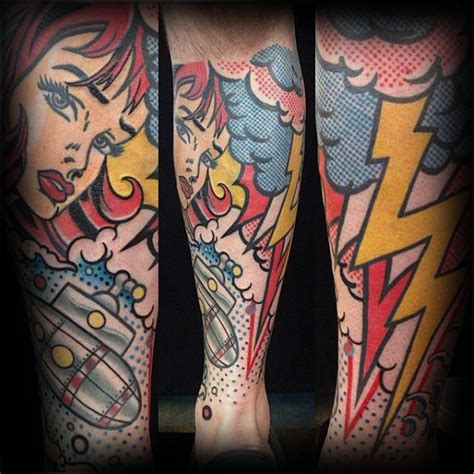 pop art tattoo top 60 best pop designs for bold ink ideas