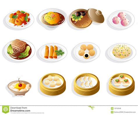 new year food names food icon set stock vector illustration