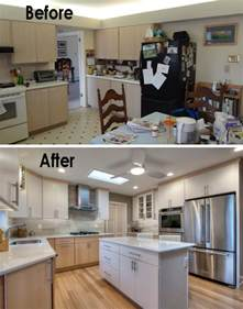 Home Design Before And After 30 Small Kitchen Makeovers Before And After Home
