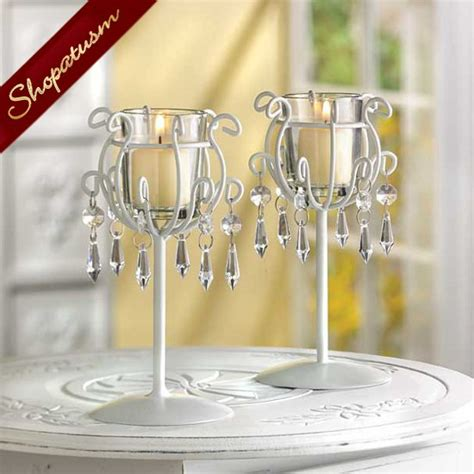 24 crystal drops candle holders wedding centerpieces bulk