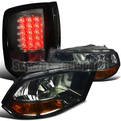 2014 dodge ram 1500 tail lights 2009 2014 dodge ram 1500 smoke headlights led tail lights