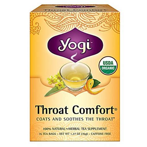 buy yogi throat comfort tea 16 tea bags