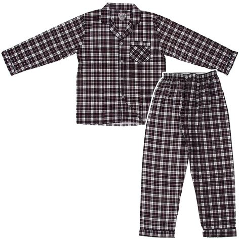 comfortable pajamas for men comfort zone black and white flannel pajamas for men