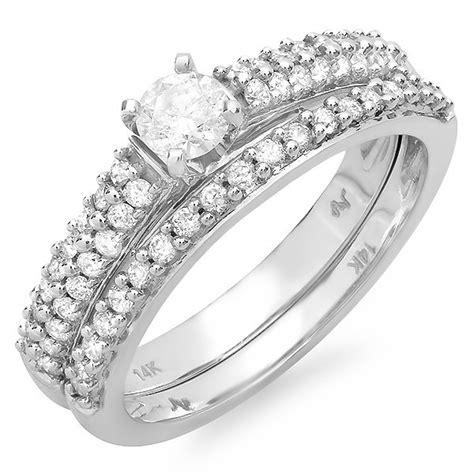 gorgeous row cheap bridal ring set 1 carat