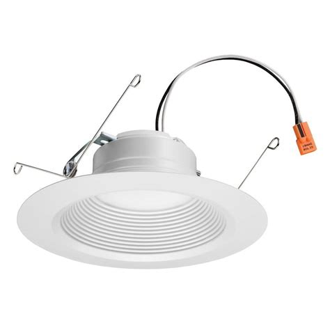 6 led recessed lighting 4000k lithonia lighting 5 in to 6 in matte white recessed