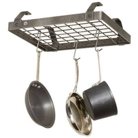 Low Ceiling Pot Rack by Pot Racks Hammered Steel D 233 Cor Collection Dr20a Series