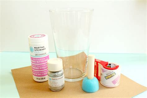 Martha Stewart Decoupage Glue - diy glitter vase
