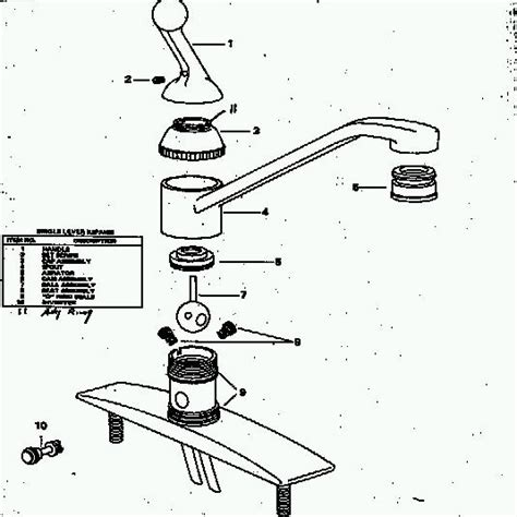 delta kitchen faucet repair diagram peerless parts single delta faucet repair diagram single handle faucet repair