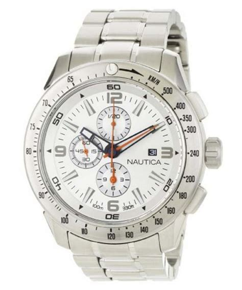 Nautica Chronograph Silver Dial N21524G Mens Watch   ZetaWatches