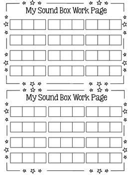 Elkonin Boxes Worksheets by Push Up The Words And Boxes On
