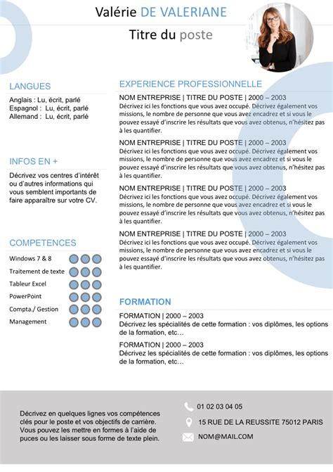 file layout en francais resume en francais exemples cv format international