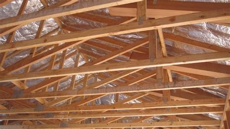 Premade Coffered Ceiling by Raised Heel Truss Used To Improve Energy Efficiency In