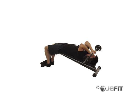 ez bar close grip bench ez bar decline close grip skull crusher exercise