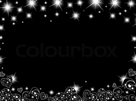 Star Decor For Home abstract background in black and white with hearts and
