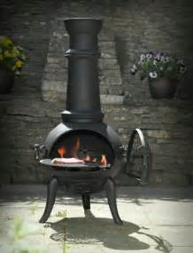 Chiminea B Q by Black Cast Iron Steel Mix 105cm Chimenea Chiminea With