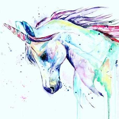 watercolor tattoo unicorn unicorn watercolor by whitehouse unicorns pinte