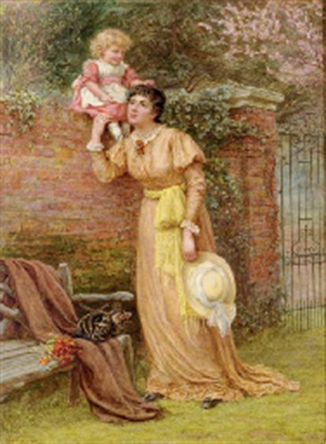 Reserve D Eau 1909 by Edith Martineau 1842 1909 And Child